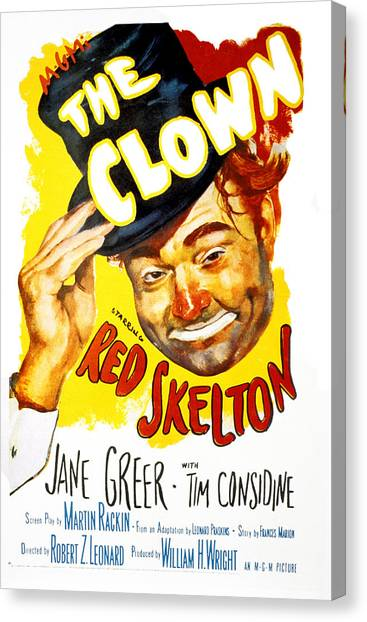 1950s Movies Canvas Print - The Clown, Red Skelton, 1953 by Everett