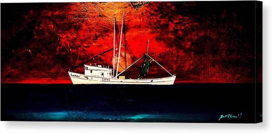 The Clyde Phillips At Sea Canvas Print by Barry Knauff
