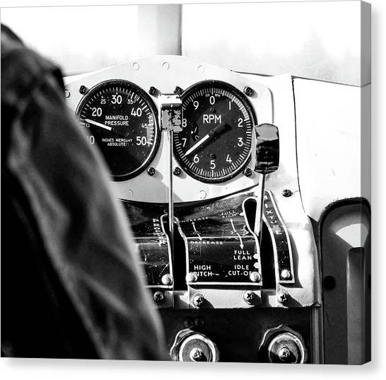 Cockpits Canvas Print - Ready For Takeoff by Rand