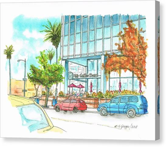 Tea Leaves Canvas Print - The Coffee Bean In Sunset Blvd And Argyle, Hollywood, California by Carlos G Groppa