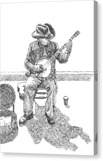 The Cold Banjo Player Canvas Print