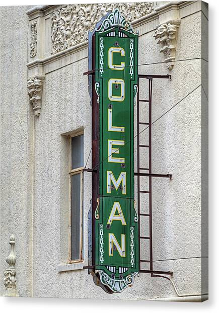 The Coleman Theater Canvas Print by JC Findley