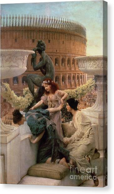 The Colosseum Canvas Print - The Coliseum by Sir Lawrence Alma-Tadema