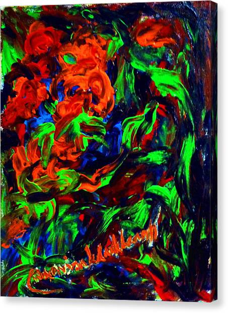 The Color Of My Love World. Canvas Print