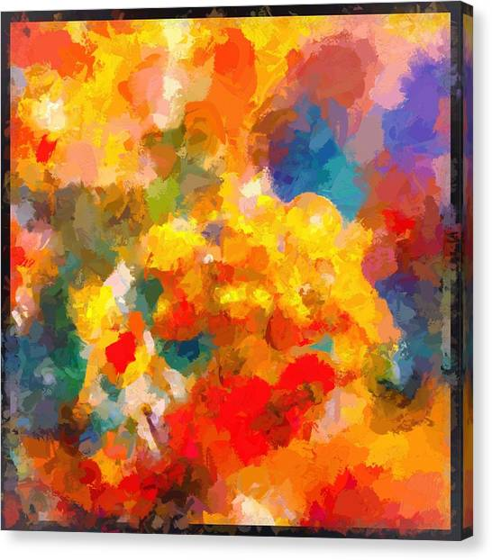 Border Wall Canvas Print - The Colors In My Heart by Debra Lynch