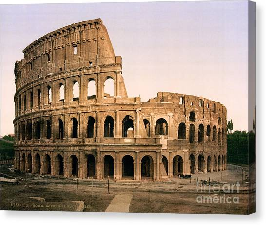 The Colosseum Canvas Print - The Colosseum by Celestial Images