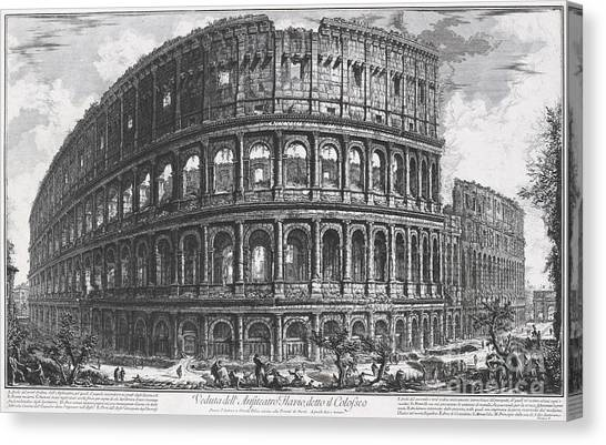 The Colosseum Canvas Print - The Colosseum, Or Flavian Amphitheatre by MotionAge Designs