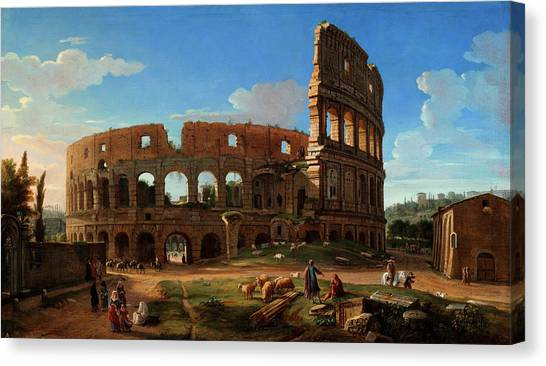 The Colosseum Canvas Print - The Colosseum Seen From The Southeast by Gaspar van Wittel