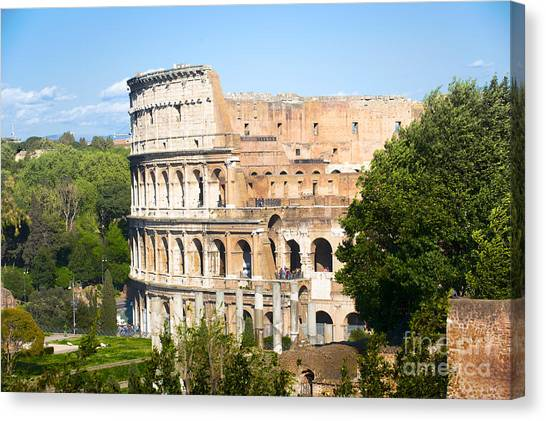 The Colosseum Canvas Print - The Colosseum by Stefano Senise