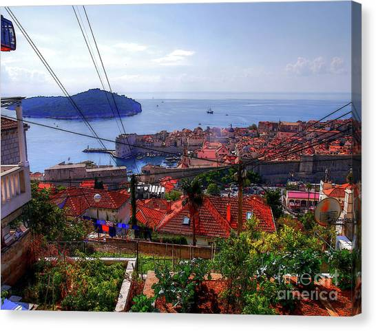 The Colourful City Of Dubrovnik Canvas Print