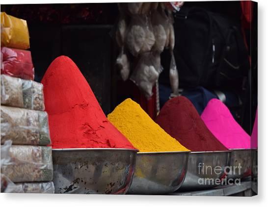 The Colours Of Holi Canvas Print