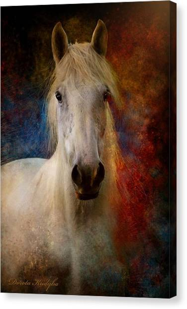 Draft Horses Canvas Print - The Colours Of Love. by Dorota Kudyba