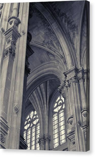 The Columns Of Saint-eustache, Paris, France. Canvas Print