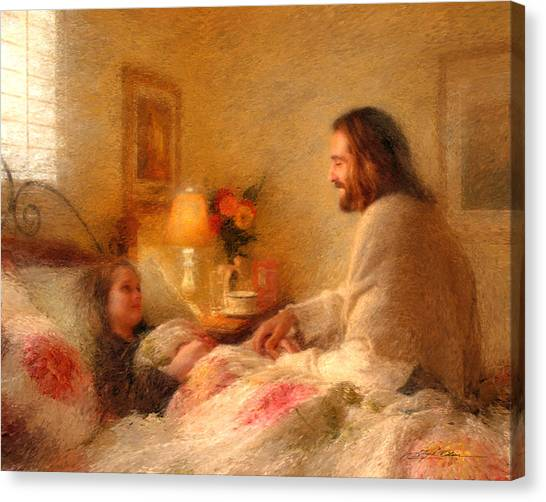 Religious Canvas Print - The Comforter by Greg Olsen