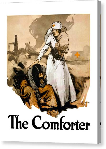 Health Care Canvas Print - The Comforter - World War One Nurse by War Is Hell Store