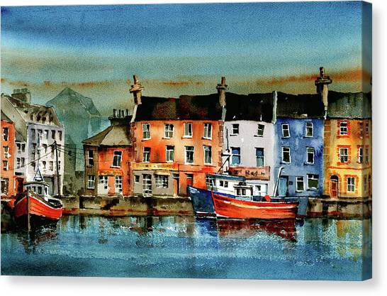 The Commercial Docks, Galway Citie Canvas Print