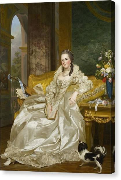 Rococo Art Canvas Print - The Comtesse D'egmont Pignatelli In Spanish Costume by Alexander Roslin