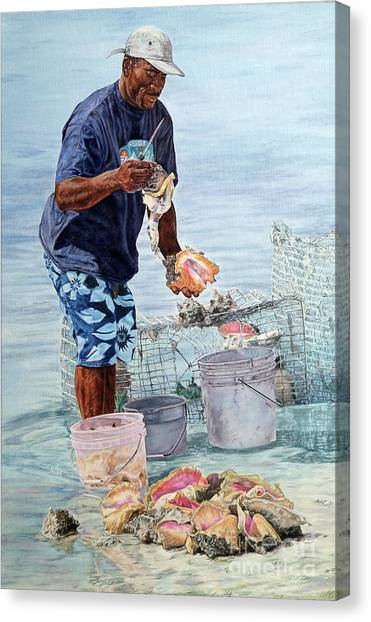 The Conch Man Canvas Print
