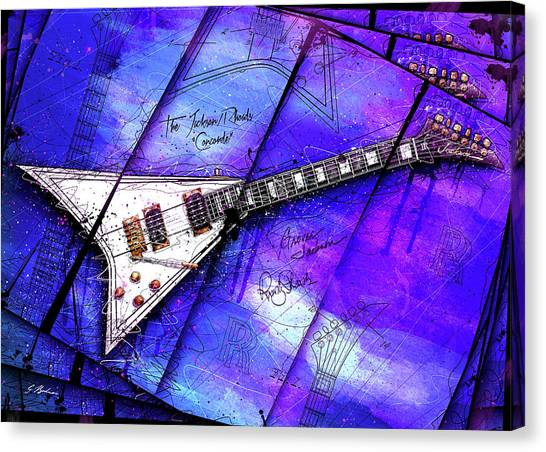 Van Halen Canvas Print - The Concorde On Blue by Gary Bodnar