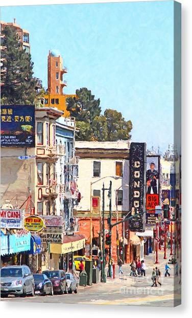 Condors Canvas Print - The Condor On Broadway And Columbus Street In San Francisco by Wingsdomain Art and Photography