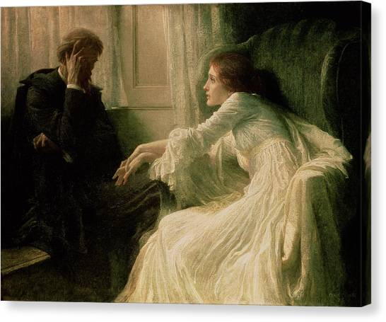 Confession Canvas Print - The Confession by Sir Frank Dicksee