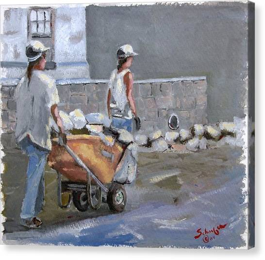 Canvas Print - The Contractors by Charles Schaefer