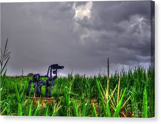 Georgia State University Canvas Print - The Corn Is Up The Iron Horse Collection Art by Reid Callaway