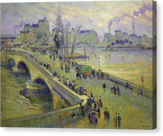 Divisionism Canvas Print - The Corneille Bridge, Rouen by Robert Antoine Pinchon