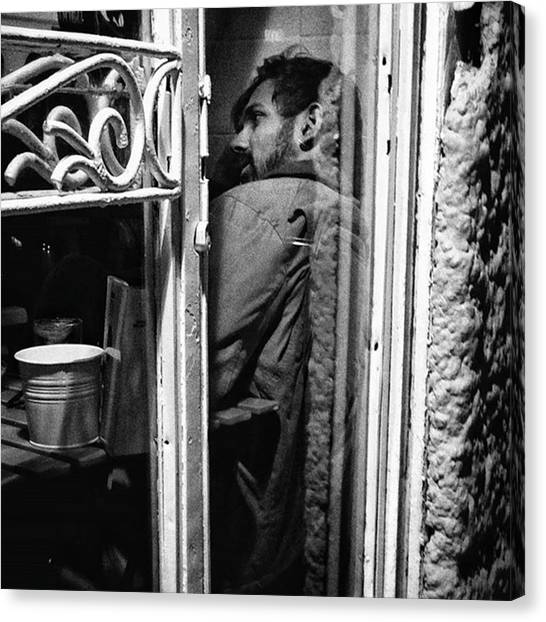 Bar Canvas Print - The Corner Man  #portrait #people by Rafa Rivas