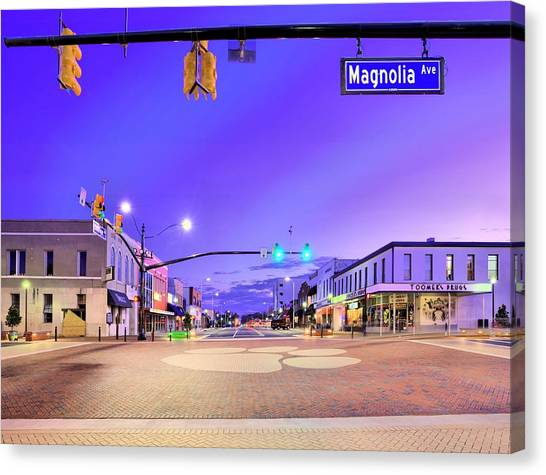 The University Of Alabama Canvas Print - The Corner Of College And Magnolia by JC Findley