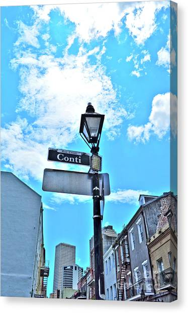The Corner Of Conti Canvas Print