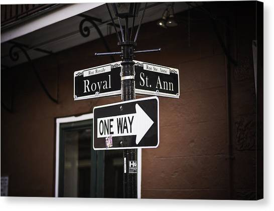 The Corner Of Royal And St. Ann, New Orleans, Louisiana Canvas Print
