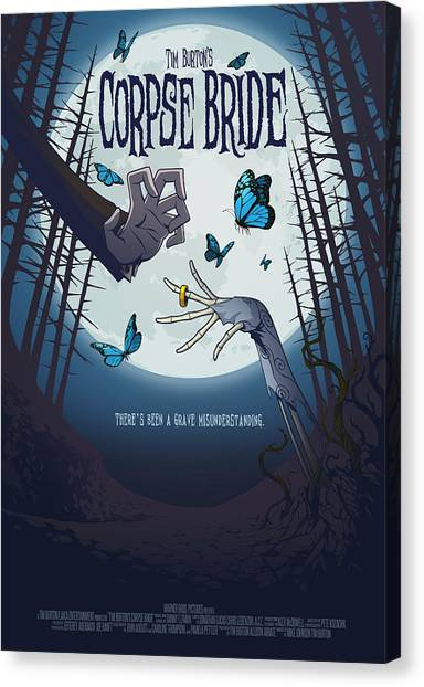 Burton Canvas Print - The Corpse Bride Alternative Poster by Christopher Ables