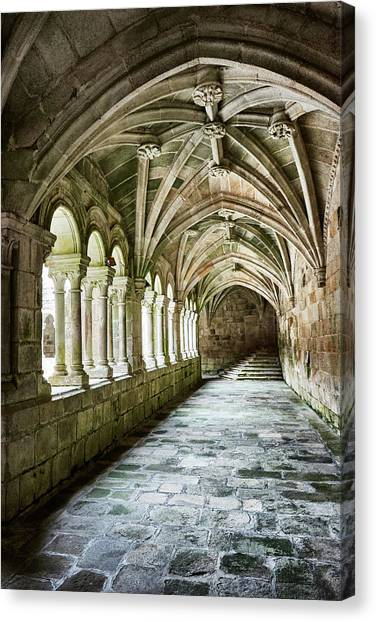 The Corridors Of The Monastery Canvas Print