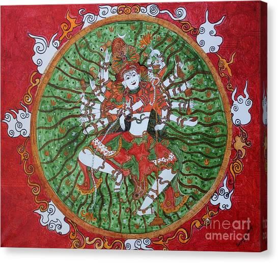 The Cosmic Dancer Canvas Print by Saranya Haridasan
