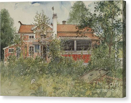Farmstead Canvas Print - The Cottage by Carl Larsson