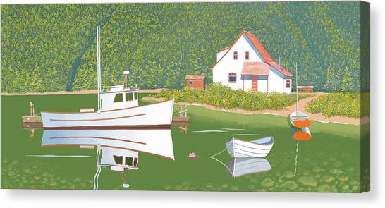 The Cottsge At Blackberry Point Canvas Print