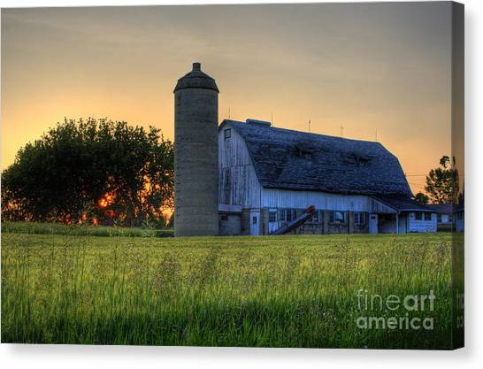 The Country Sunset Canvas Print