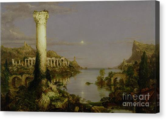 Ruin Canvas Print - The Course Of Empire - Desolation by Thomas Cole