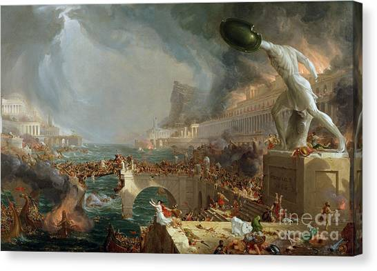 Soldiers Canvas Print - The Course Of Empire - Destruction by Thomas Cole