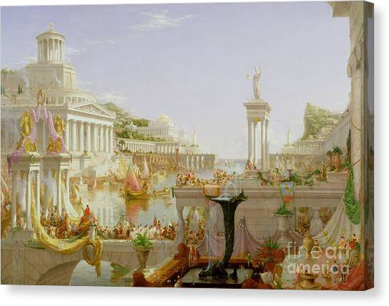 Greek Canvas Print - The Course Of Empire - The Consummation Of The Empire by Thomas Cole