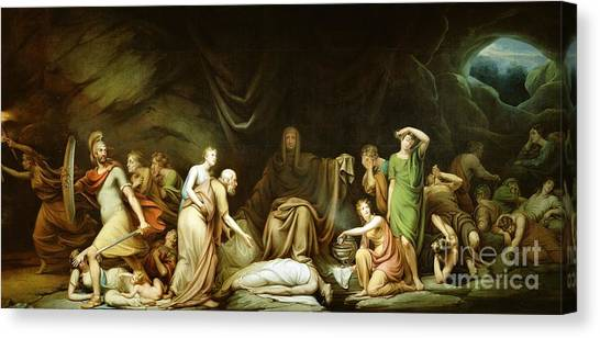 Rembrandt Canvas Print - The Court Of Death by Rembrandt Peale