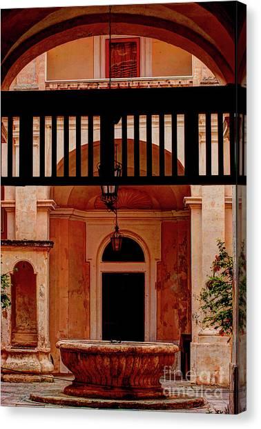 The Court Yard Malta Canvas Print