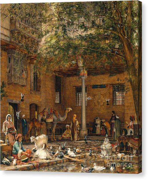 Coptic Art Canvas Print - The Courtyard Of The Coptic Patriarch's House In Cairo by MotionAge Designs