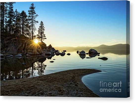 Lake Canvas Print - The Cove At Sand Harbor by Jamie Pham