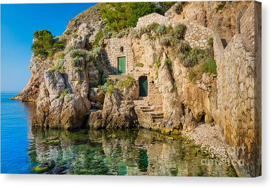 Fortification Canvas Print - The Cove by Inge Johnsson