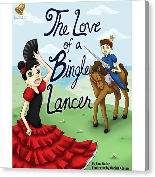 Flamenco Canvas Print - The Cover Of My First Children's Book by Rachel Korsen
