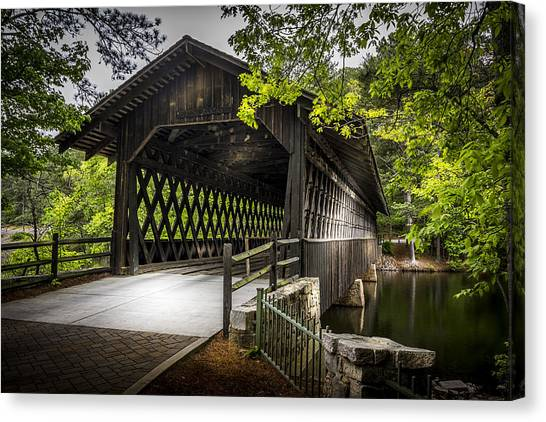 Horse Farms Canvas Print - The Coverd Bridge by Marvin Spates