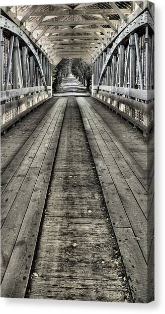 The Covered Bridge Canvas Print by JC Findley