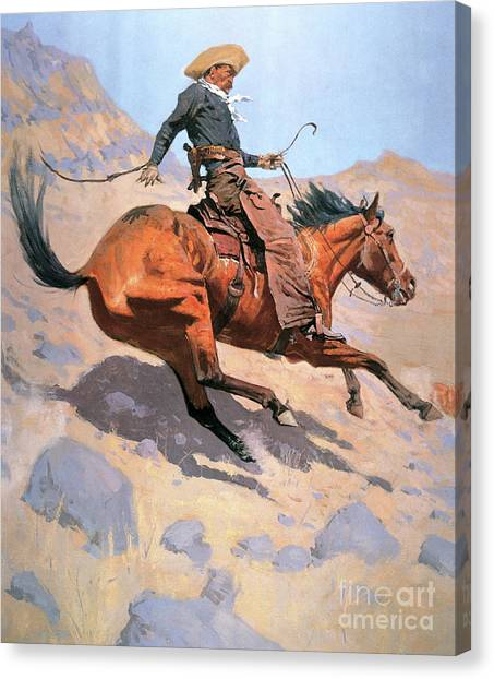 Lassos Canvas Print - The Cowboy by Frederic Remington